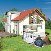 Regenwassertank zur Regenwassernutzung im Haushalt